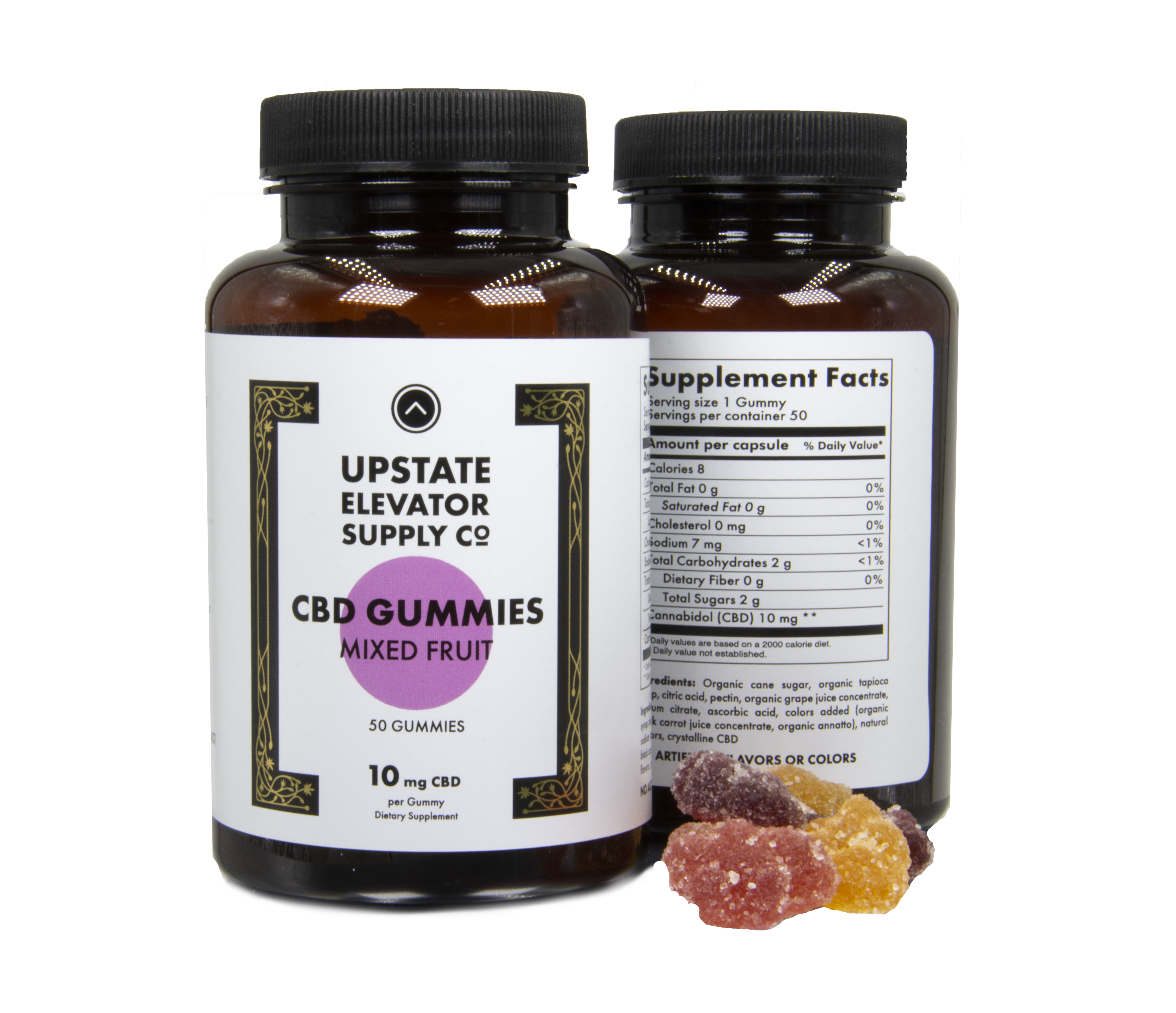CBD Gummy Bottle - Mixed Fruit (10mg, 50qty)