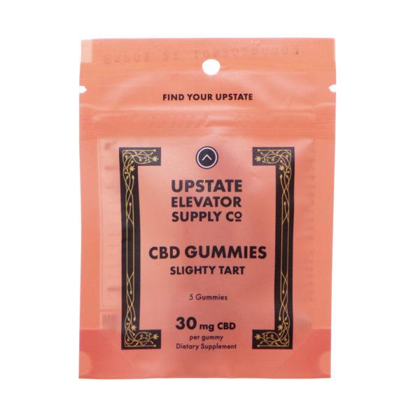150mg slightly tart gummies front