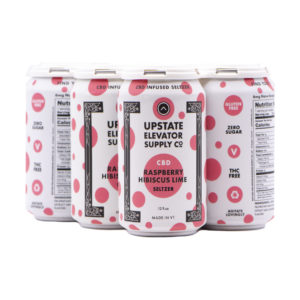 Raspberry Hibiscus Lime CBD Seltzer