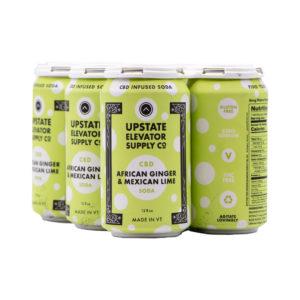 Ginger Lime CBD Sparkling Soda