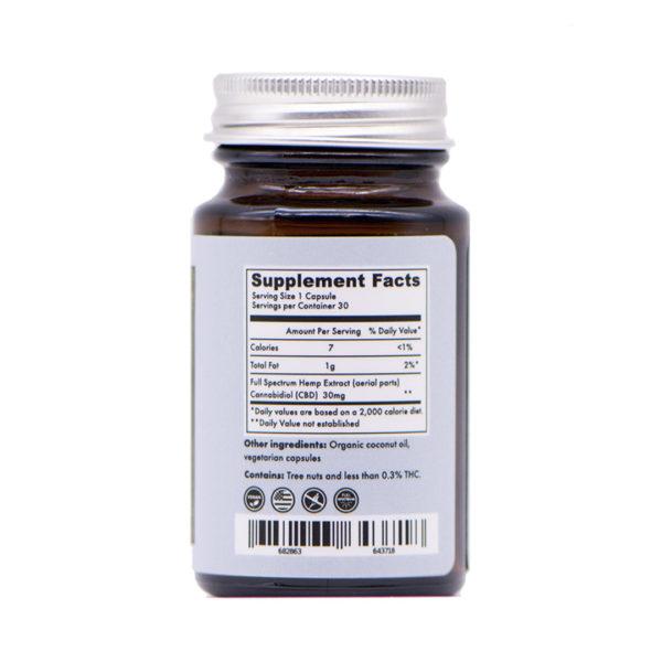 30mg organic capsules